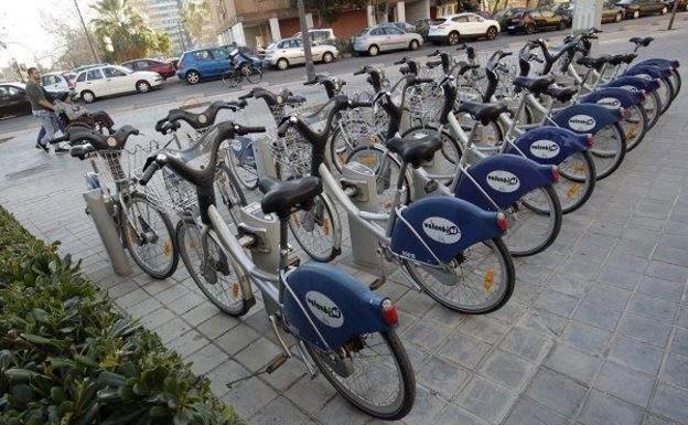 Valenbisi, la bici pública de Valencia.