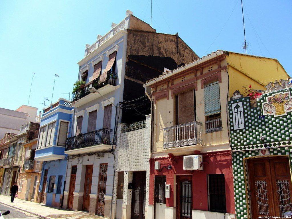 El barrio marinero de El Cabanyal.