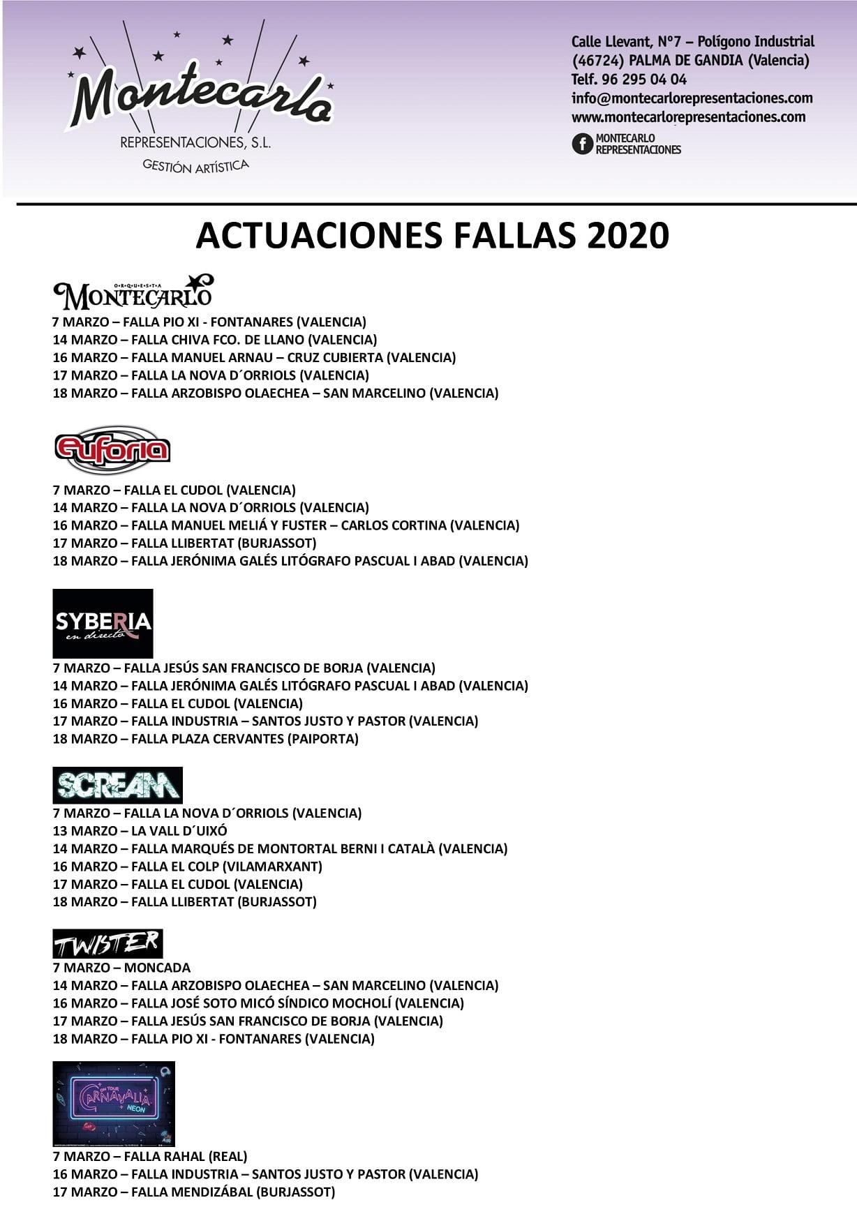 FALLAS 2020: Verbenas, orquestas y discomóviles 2