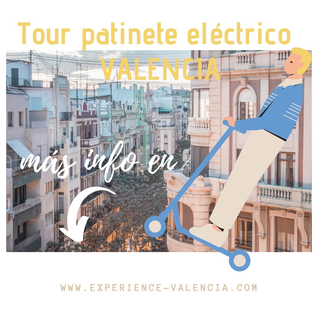 tour patinete Valencia, paseo con patinete, tres tours top en Valencia