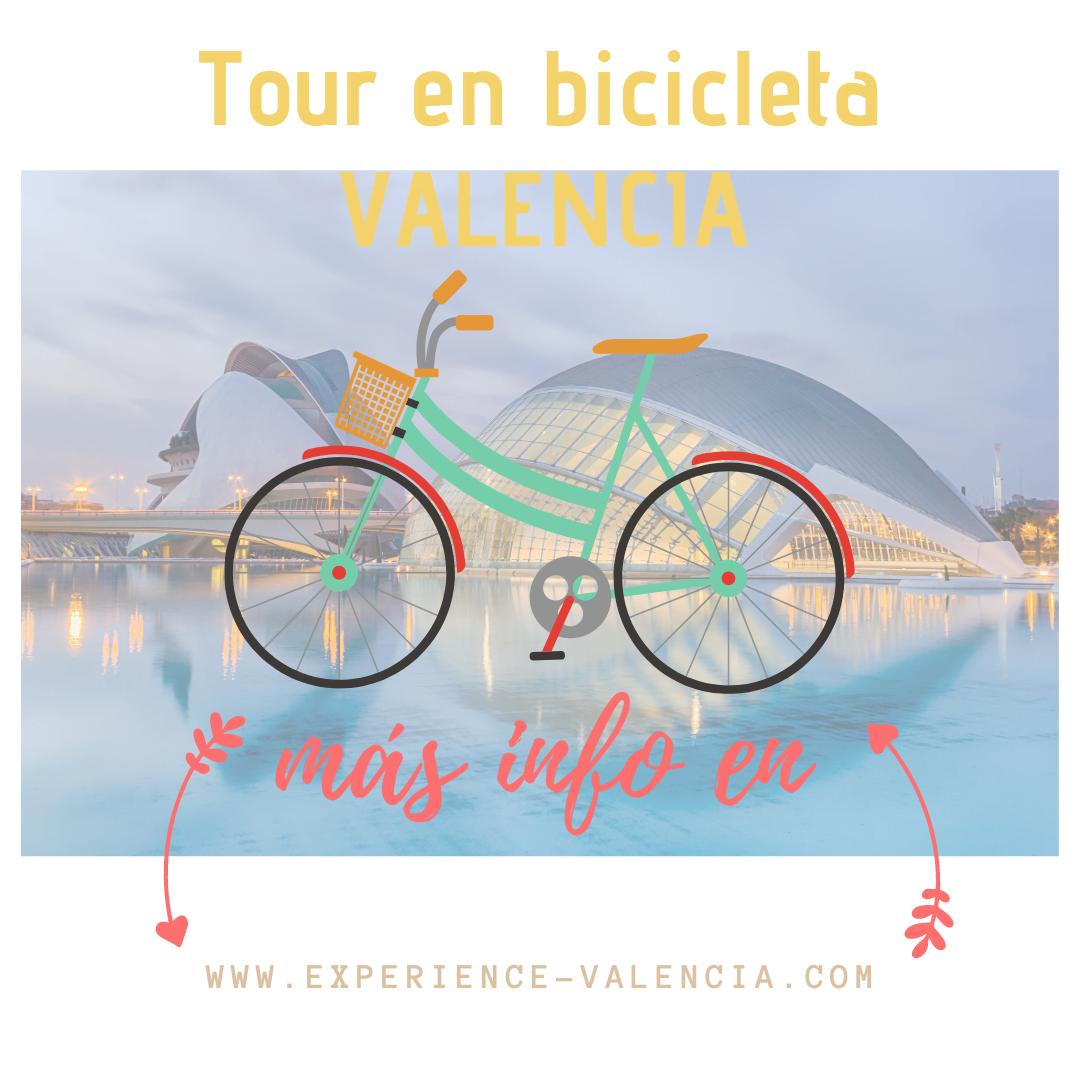 tour con bicicleta Valencia, tres tours top en Valencia